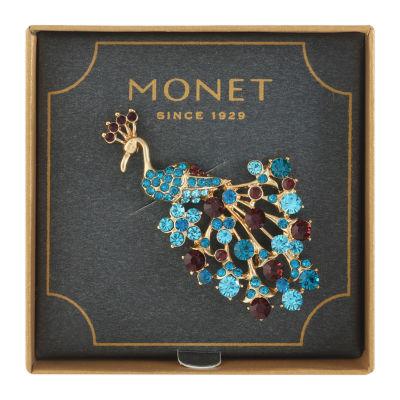 Monet® Crystal Peacock Pin