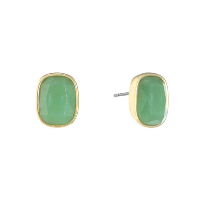 Monet Jewelry Green 19.1mm Stud Earrings