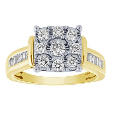 Womens 1 CT. T.W. Genuine White Diamond 10K Gold Bridal Set