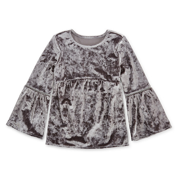Arizona Round Neck Long Sleeve Blouse - Preschool Girls