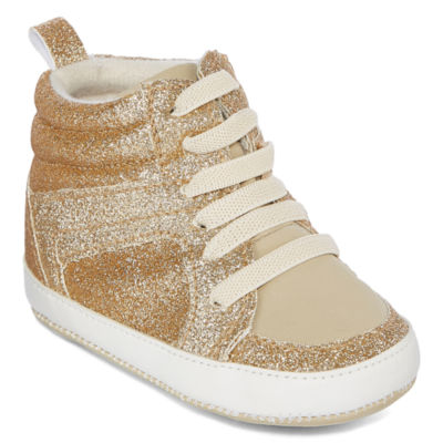 Okie Dokie Baby Girls Glitter Sneaker Shoes - Baby