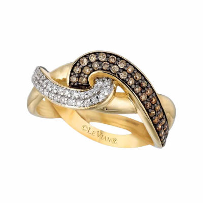Grand Sample Sale™ by Le Vian® 1/2 CT. T.W Vanilla Diamonds® & Chocolate Diamonds® in 14k Honey Gold™ Chocolatier® Ring