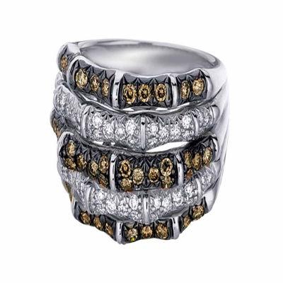 Grand Sample Sale™ by Le Vian® 1 1/4 CT. T.W Vanilla Diamonds® & Chocolate Diamonds® in 14K Vanilla Gold® Chocolatier® Ring