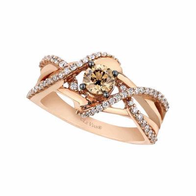 Grand Sample Sale™ by Le Vian® 3/4 CT. T.W. Vanilla Diamonds® & Chocolate Diamonds® set in 14K Gold Chocolatier® Ring