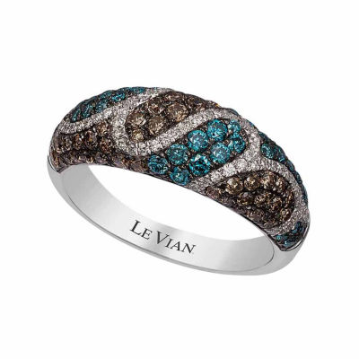Grand Sample Sale™ by Le Vian® 1 CT. T.W Vanilla Diamonds®, Iced Blueberry Diamonds® & Chocolate Diamonds® in 14k Vanilla Gold® Exotics® Ring