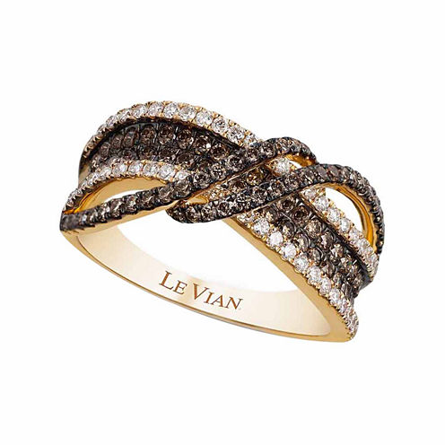 Grand Sample Sale™ by Le Vian® 1 CT. T.W. Vanilla Diamonds® & Chocolate Diamonds® in 14K Honey Gold™ Chocolatier® Ring