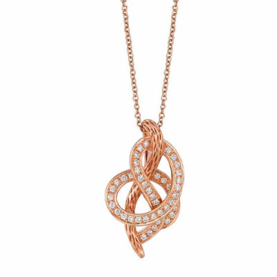 Grand Sample Sale™ by Le Vian® 1/4 CT.T.W Vanilla Diamonds® in 14k Strawberry Gold® Pendant
