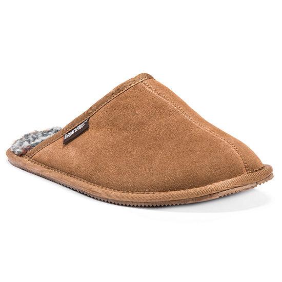 MUK LUKS® Dave Printed Berber Suede Slippers