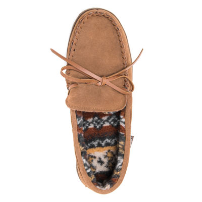 MUK LUKS® Paul Printed Suede Slippers