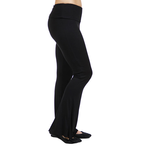 24/7 Comfort Apparel Straight Leg Knit Pull-On Pants