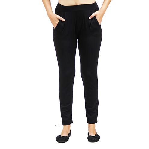 24/7 Comfort Apparel 2-Pocket Straight Leg Knit Pull-On Pants