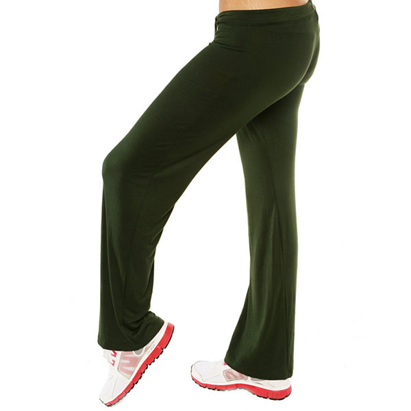 24/7 Comfort Apparel Draw String Narrow Knit Pull-On Pants