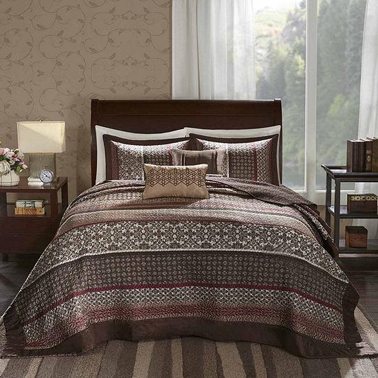 Madison Park Dartmouth 5-pc. Jacquard Bedspread Set