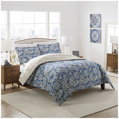 Marble Hill Coventry 3-pc. Floral Midweight Reversible Comforter Set