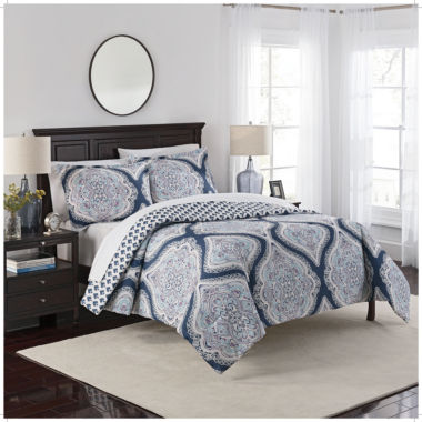 Marble Hill Lotus 3-pc. Bohemian Midweight Reversible Comforter Set