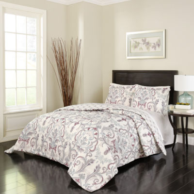Marble Hill Royal Meadow 3-pc. Bohemian Midweight Reversible Comforter Set