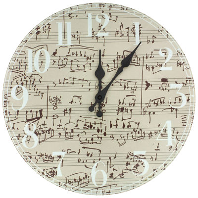 Oriental Furniture Symphony Score Wall Clock