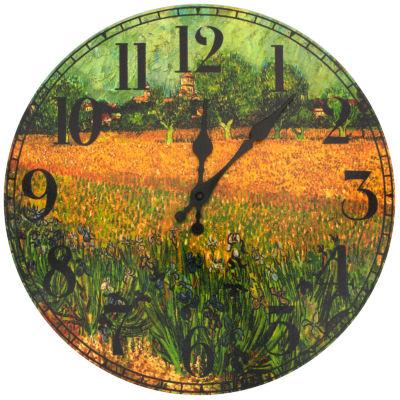 Oriental Furniture Van Gogh Field Of Irises Wall Clock
