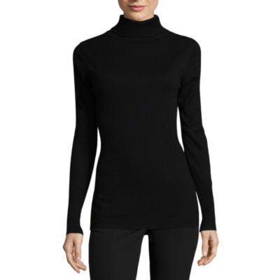 Worthington Long Sleeve Essential Turtleneck Sweater