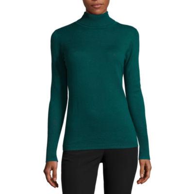 Worthington Long Sleeve Essential Turtleneck Sweater