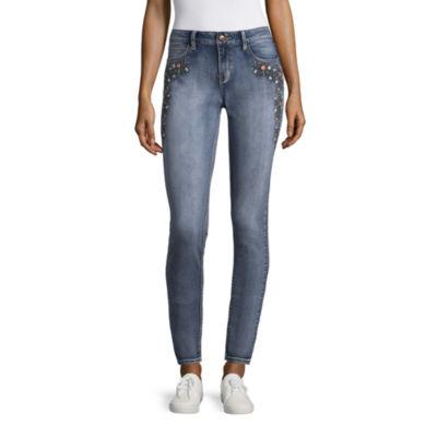 Love Indigo Embroidered Skinny Jean