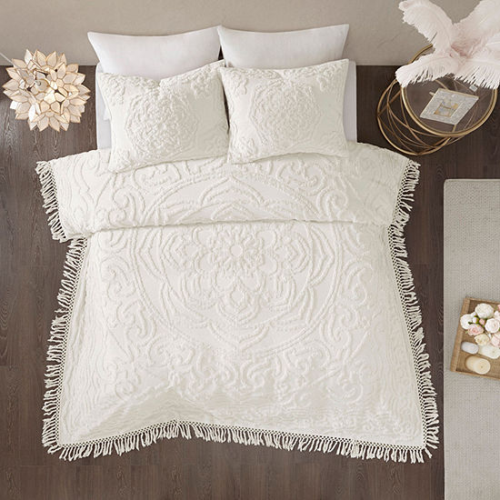 Madison Park Virginia Cotton Tufted Chenille 3-pc. Coverlet Set