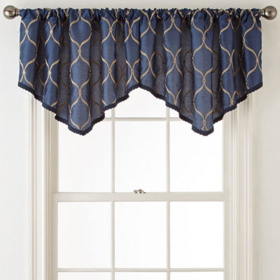 JCPenney Home Rod-Pocket Ascot Valance