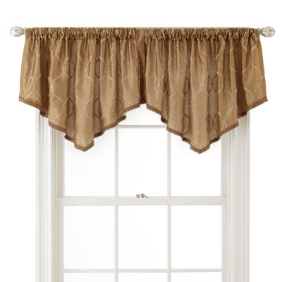 JCPenney Home Geneva Rod-Pocket Ascot Valance