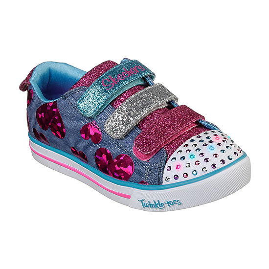 Skechers Sparkle Lite Little Kids Girls Walking Shoes Pull-on