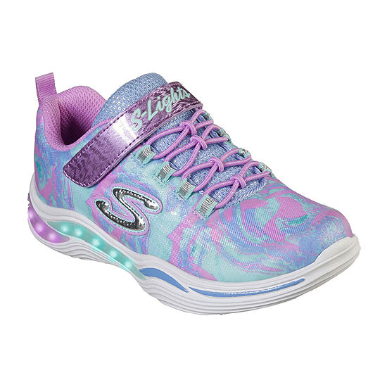 Skechers Power Petals Little Kids Girls Hook and Loop Sneakers