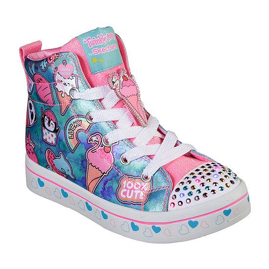 Skechers Twi-Lites Little Kids Girls Lace-up Sneakers