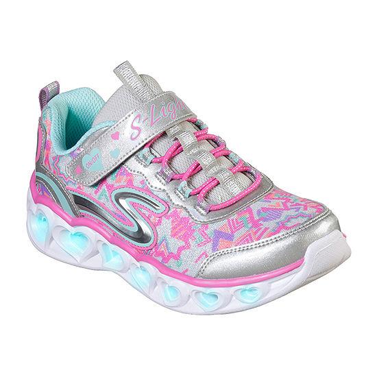 Skechers Heart Lights Little Kids Girls Sneakers Hook and Loop