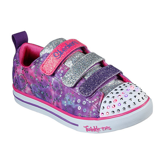 Skechers Sparkle Lite Little Kids Girls Hook and Loop Sneakers