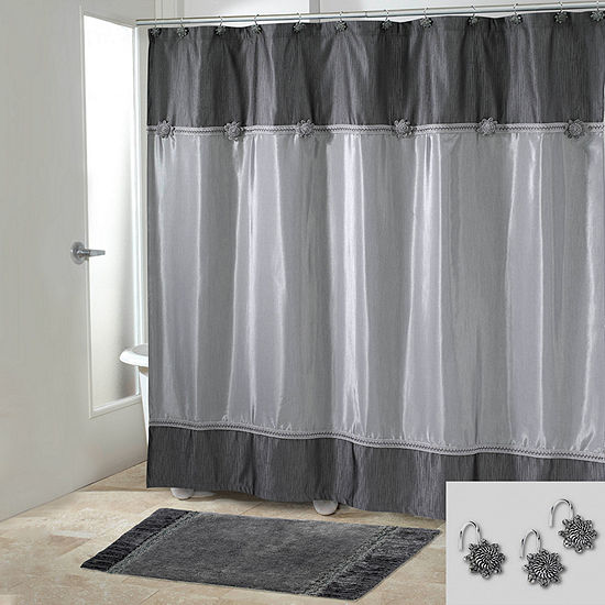 Avanti Braided Medallion Shower Curtain Set