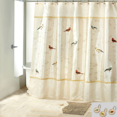 Avanti Gilded Birds 3 Shower Curtain Set
