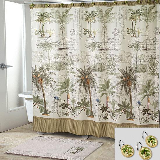 Avanti Colony Palm Shower Curtain Set