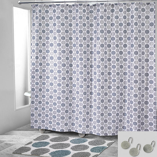 Avanti Dotted Circles Shower Curtain Set