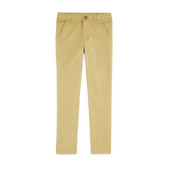 Arizona Little & Big Boys Straight Flat Front Pant