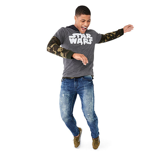 Star Wars Graphic Tee, Arizona T-Shirt Hoodie & Advance Flex 360 Mens Skinny Fit Jean