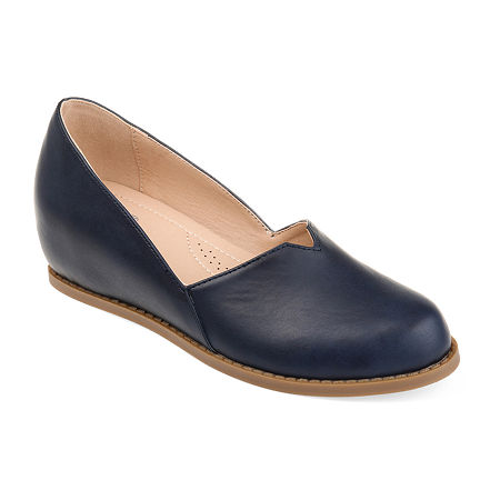 Journee Collection Womens Val Slip-On Shoe Round Toe, 12 Medium, Blue