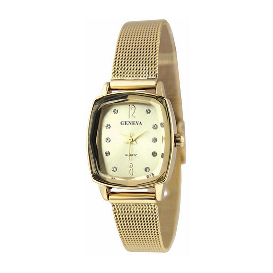 Geneva Womens Gold Tone Bracelet Watch Jry5188gd