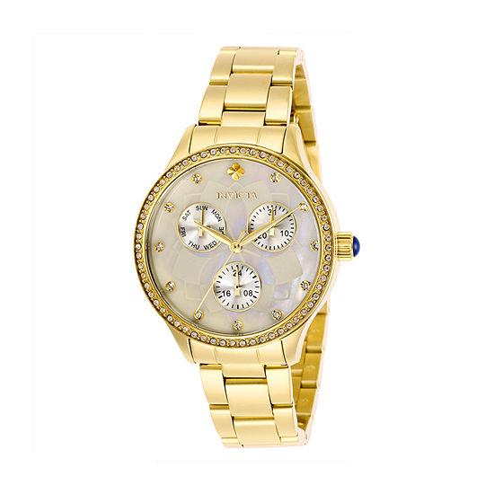 Invicta Womens Gold Tone Bracelet Watch-29093