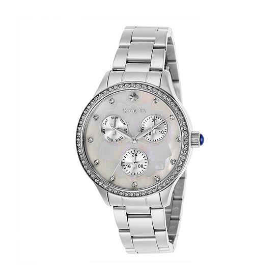 Invicta Wildflower Womens Silver Tone Stainless Steel Bracelet Watch-29090