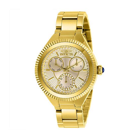 Invicta Womens Gold Tone Bracelet Watch-28345