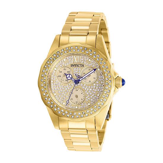 Invicta Womens Gold Tone Bracelet Watch-28435