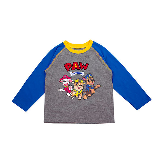 Boys Crew Neck Long Sleeve Paw Patrol Graphic T-Shirt-Toddler