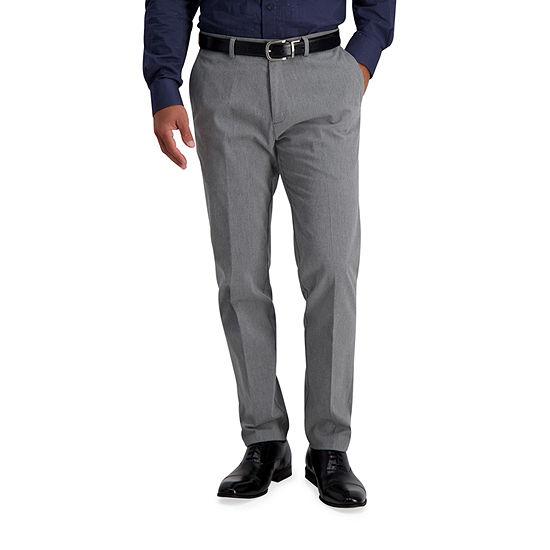Haggar ® Iron Free Premium Khaki Slim-Straight Fit Flat Front Pants