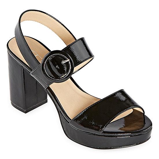 CL by Laundry Womens Gwenn Open Toe Block Heel Pumps