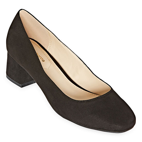Liz Claiborne Womens Kalpeni Slip-on Square Toe Block Heel Pumps