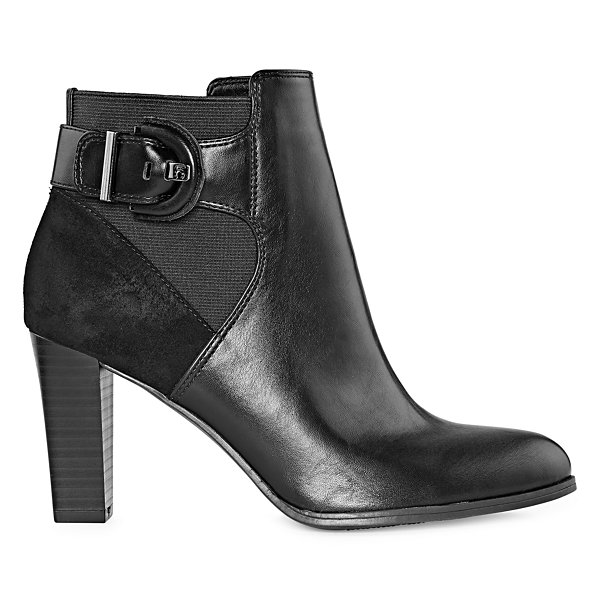 Liz Claiborne Womens Temple Booties Stacked Heel